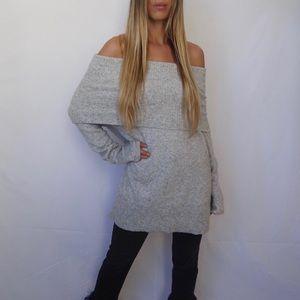 Halogen Cashmere Off The Shoulder Sweater